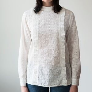560aa9001af7 Closeout Sale, NWT Araceli Top in white eyelet.
